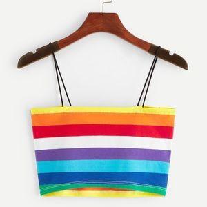 Tops - Rainbow Stripe Cami Top